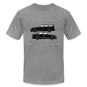 Volvo 850R T5-R Swedish Turbo Black Outline - Men's T-Shirt by American Apparel