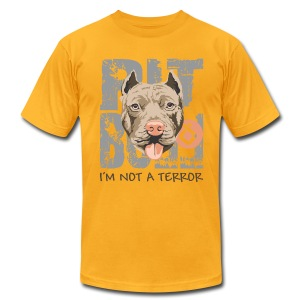 Pit bull not a terror - Tshirt Yellow - Men's Fine Jersey T-Shirt