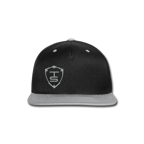 TS - Snap-Back Baseball Cap (Black/Grey) - Snap-back Baseball Cap