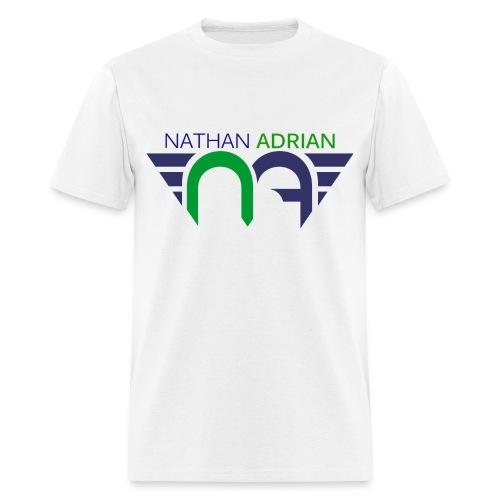 Logo on Front, Website on Back - Men's T-Shirt