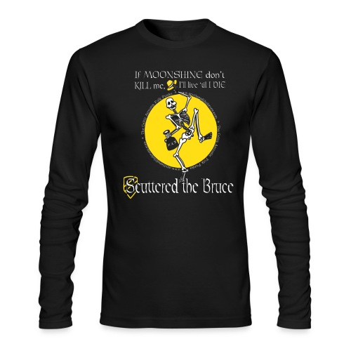 Men's Black Longsleeve T-shirt Logo #2 - Men's Long Sleeve T-Shirt by Next Level