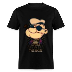 popeye keep calm i'm the boss - Men's T-Shirt