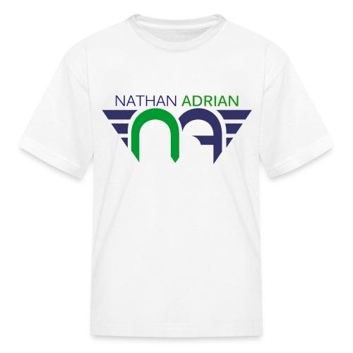 Logo on Front, Website on Back - Kids' T-Shirt