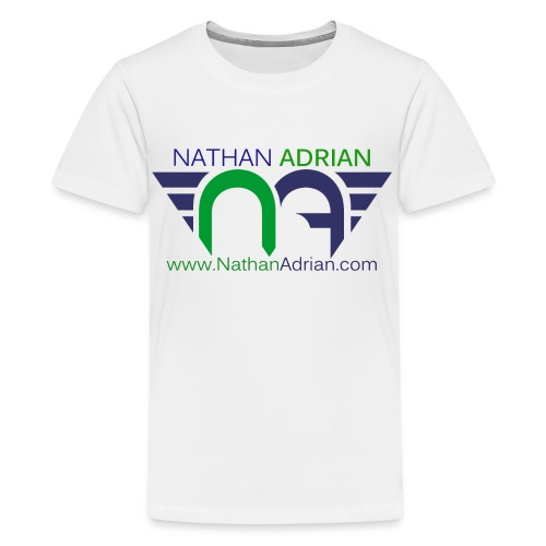 Logo/Website on Front, Nothing on Back - Kids' Premium T-Shirt