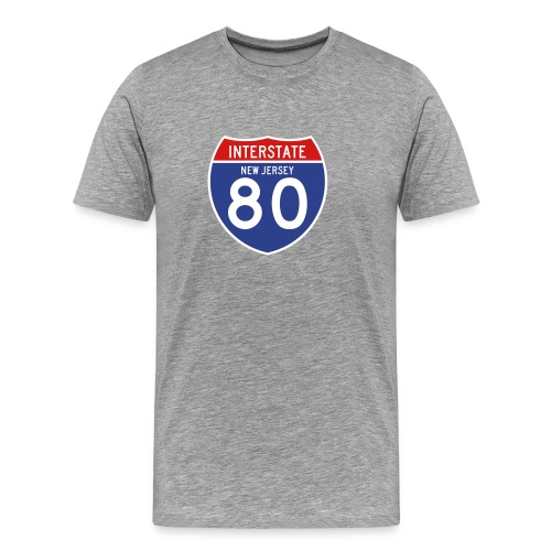 New Jersey Interstate 80 Sign T-Shirt - Men's Premium T-Shirt