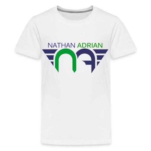 Logo on Front, Website on Back - Kids' Premium T-Shirt