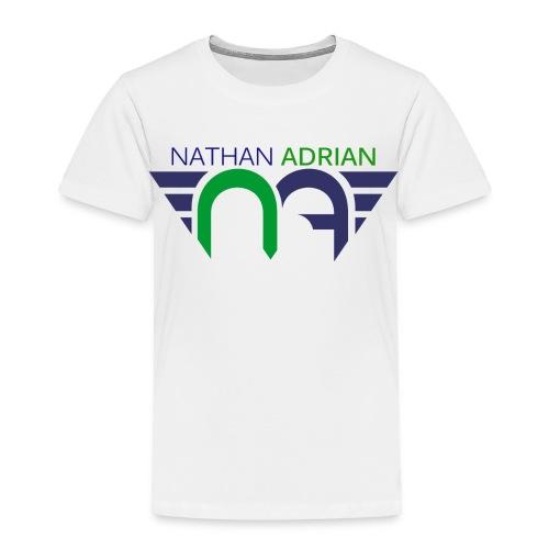 Logo on Front, Website on Back - Toddler Premium T-Shirt