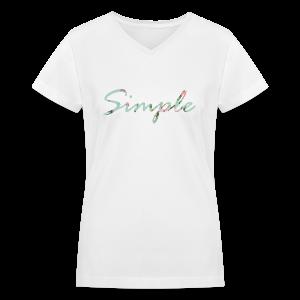Simple Tee - Women's V-Neck T-Shirt
