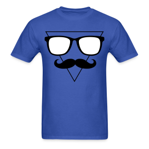 Hipster Triangle Tee - Men's T-Shirt