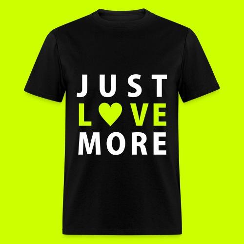 Just Love More Tee in Black - Men's T-Shirt