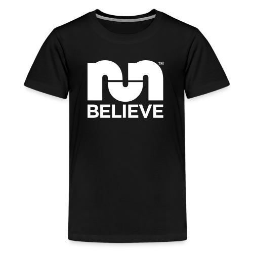 Believe In The Run Black - Kids' Premium T-Shirt