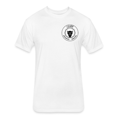 LionFit: White - Fitted Cotton/Poly T-Shirt by Next Level