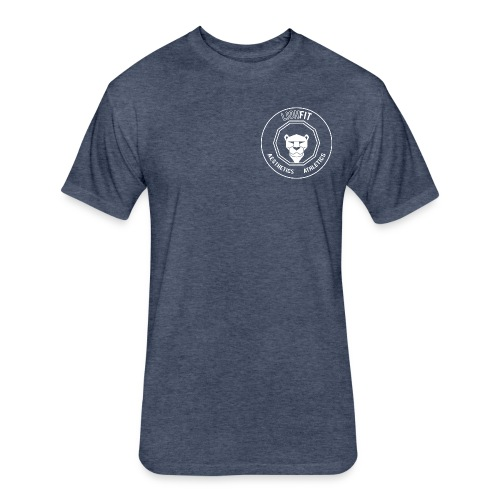 LionFit: Heather Blue - Fitted Cotton/Poly T-Shirt by Next Level