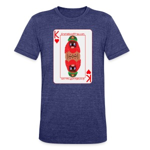 Playing card on shirt with my face on it - Unisex Tri-Blend T-Shirt