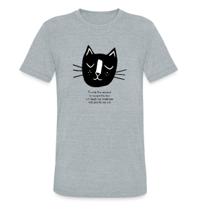 Cat Lady Tee - Unisex Tri-Blend T-Shirt by American Apparel