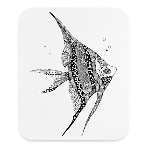 Angel Fish Tribal Mouse pad Vertical from South Seas Tees - Mouse pad Vertical