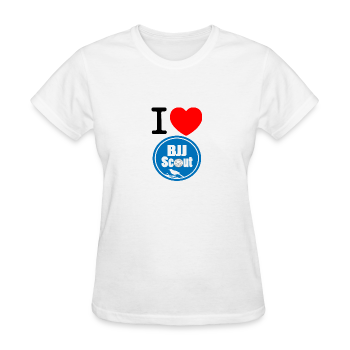 Women's I Love BJJ Scout Tee - Women's T-Shirt