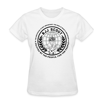 Women's BJJ Scout X Anon Tee (White) - Women's T-Shirt