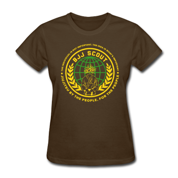 Women's BJJ Scout X Anon Tee (Brown) - Women's T-Shirt
