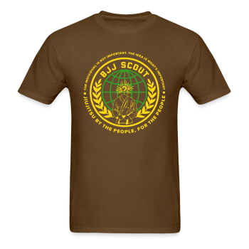 Men's BJJ Scout X Anon Tee (Brown) - Men's T-Shirt