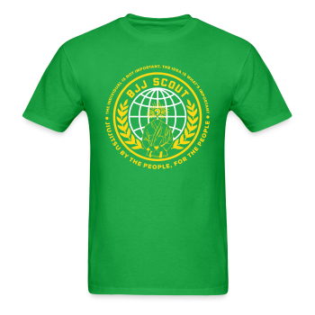Men's BJJ Scout X Anon Tee (Green) - Men's T-Shirt