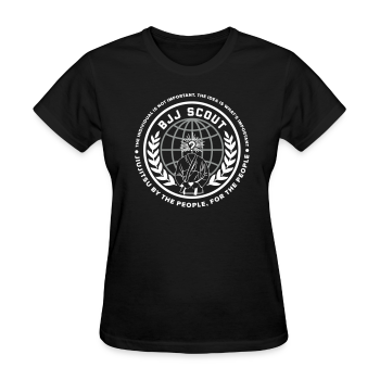 Women's BJJ Scout X Anon Tee (Black) - Women's T-Shirt