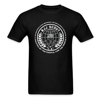 Men's BJJ Scout X Anon Tee (Black) - Men's T-Shirt