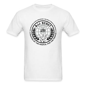 Men's BJJ Scout X Anon Tee (White) - Men's T-Shirt