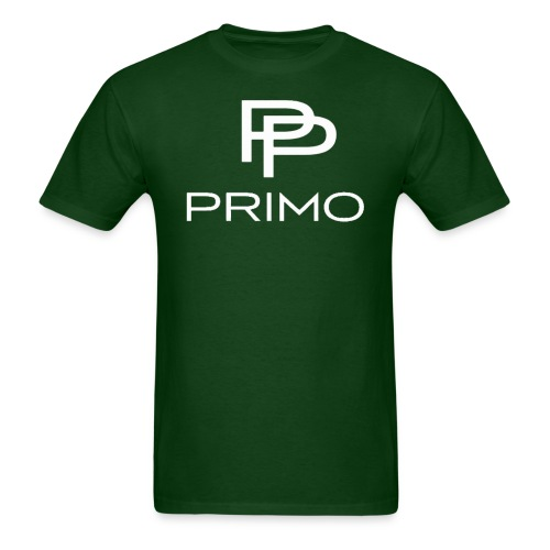 PRIMO Forest Green/White T-shirt - Men's T-Shirt