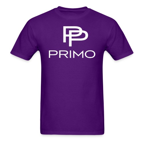 PRIMO Purple/White T-shirt - Men's T-Shirt