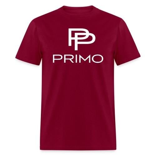 PRIMO Burgundy/White T-shirt - Men's T-Shirt