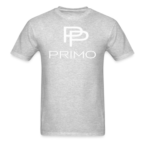 PRIMO Heather Grey/White T-shirt - Men's T-Shirt
