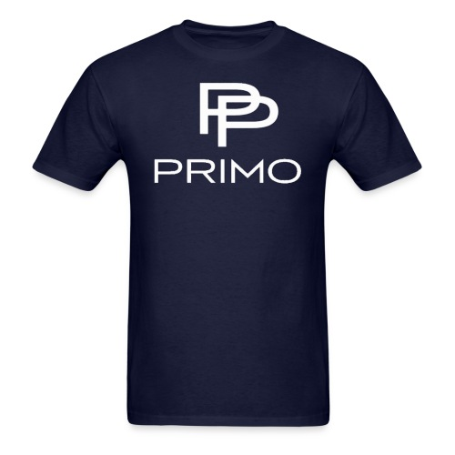 PRIMO Navy/White T-shirt - Men's T-Shirt