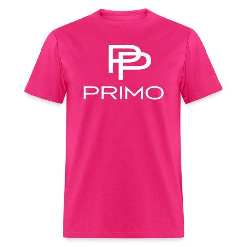 PRIMO Fuchsia/White T-shirt - Men's T-Shirt