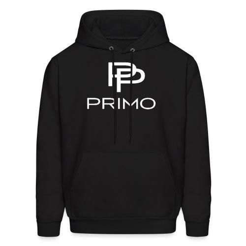 PRIMO Black/White Hoodie - Men's Hoodie