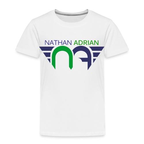 Logo on Front; #StayCoolWithUncleNathan on Back  - Toddler Premium T-Shirt