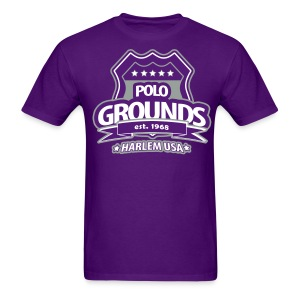 Polo Grounds Badge tee grey/purple - Men's T-Shirt