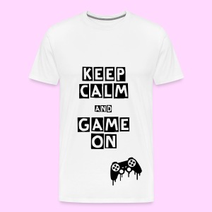 Keep Calm and Game On - Men's Premium T-Shirt