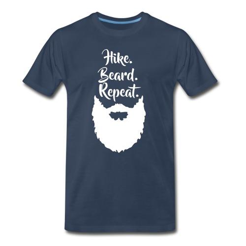 Hike. Beard. Repeat. - Men's Premium T-Shirt