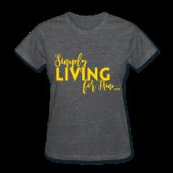 T-Shirts ~ Women's T-Shirt ~ Grey and Yellow