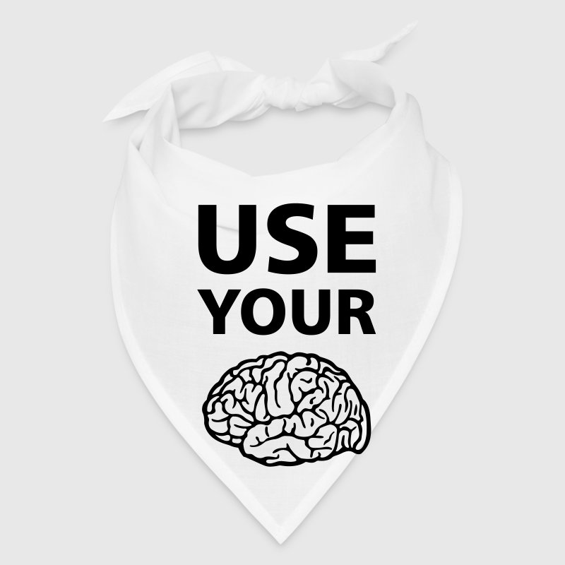 Use Your Brain Funny Statement / Slogan Caps - Bandana