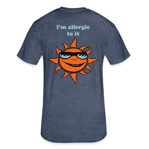 Allergy Tee - Fitted Cotton/Poly T-Shirt by Next Level
