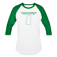T-Shirts ~ Baseball T-Shirt ~ Saskatchewan. Easy to Draw. Hard to Spell.