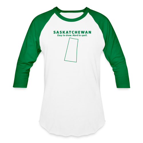 Saskatchewan. Easy to Draw. Hard to Spell. - Baseball T-Shirt
