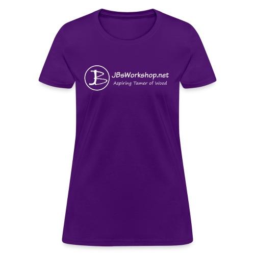 (Women's) Front JB banner (white) - Women's T-Shirt