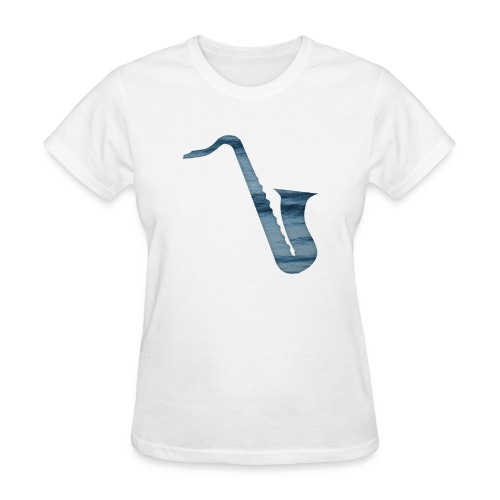 insaneintherainmusic Female Waves Logo - Women's T-Shirt