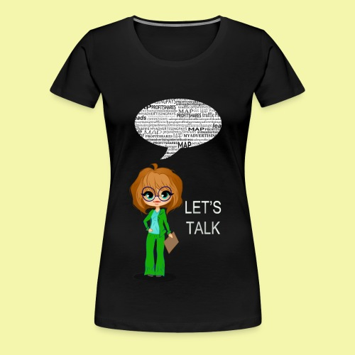 Lets Talk Womens Premium Fitted T-Shirt - Women's Premium T-Shirt