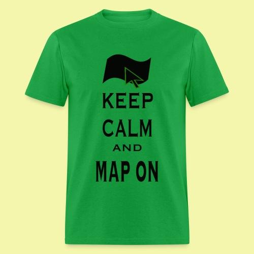 Map On Mens Classic Cut T-Shirt - Men's T-Shirt