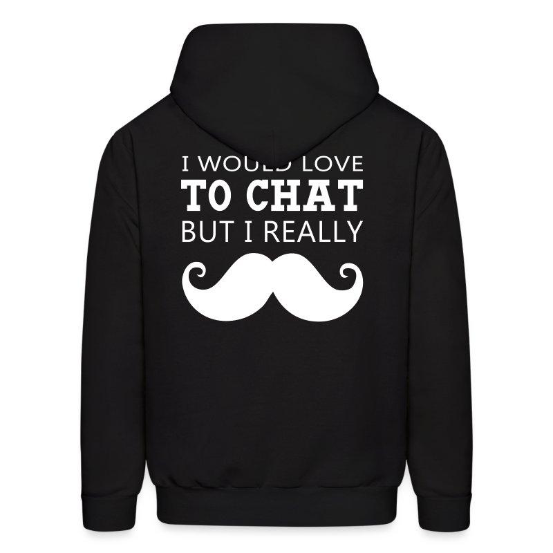 I Really Moustache Men's Hoodie - Men's Hoodie