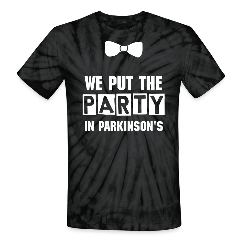 Party in Parkinson's  - Unisex Tie Dye T-Shirt